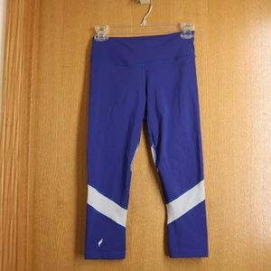 Wmn's Pheel Cropped Get Away Blue Leggings Sz S